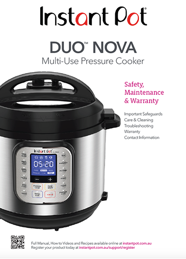 Instant Pot Duo Nova Safety Manual
