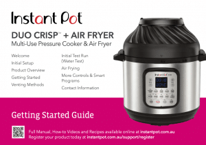 Duo Crisp™ + Air Fryer Getting Started Guide